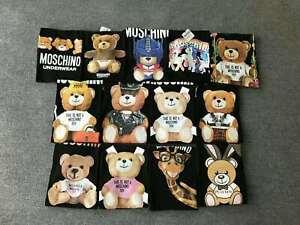 2021 Multi-color NEW moschino MEN WOMEN Teddy bear Top Tee SHORT SLEEVE T-SHIRT