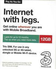 3UK Daten SIM Karte für 72 Länder mit 12 GB für 60 Tage