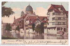 AK Nürnberg --Synagoge mit Wasserpartie-- um 1911