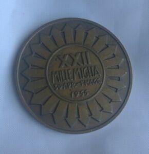 Medaglia XXII Mille Miglia 1955 Corsa Originale Brescia Roma 1000 Miglia Medal