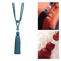 Pair Of Two Tone Curtain Rope Tassel Tie Backs Chic HB551 Fabric Tie Backs