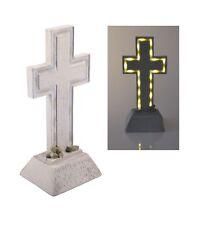 Solar Grabkreuz Polyresin 28x13cm LED Grabschmuck Grabdeko Grablicht Friedhof