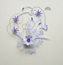 3D  WIRED  CARD CRAFT TOPPER , EMBELLISHMENT  GEN 57-02 PURPLE