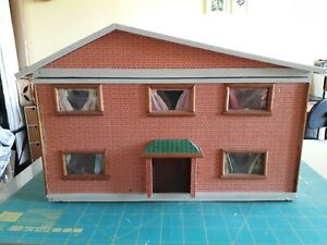 Vintage Swedish Lundby Style Wooden Dolls House 1/16th scale
