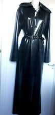 Latex rubber LONG DRESS   fetish  unisex XS S M L XL with hood