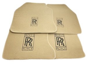 Floor Mats For Rolls Royce Ghost 2010-2019 Beige Carpets Leather Rounds LHD NEW
