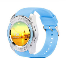 V8 Premium SmartWatch Uhr BLAU Bluetooth Samsung iPhone Android SIM Kamera