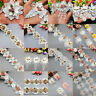 1 yard Vintage Rose Flower Pearl Lace Trim Ribbon Applique Wedding Sewing Craft