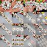 1 yard Vintage Rose Flower Pearl Lace Trim Ribbon Applique Wedding Sewing Craft