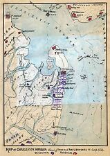 MAP ANTIQUE USA CIVIL WAR CHARLESTON HARBOUR ARMIES REPLICA POSTER PRINT PAM1251
