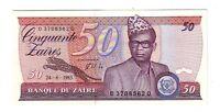 Zaire 50 zaires 24/06/  1985  FDS  UNC pick 28b  lotto 1958