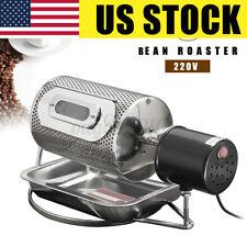 Coffee Bean Roasting Machine Coffee Roaster Roller Baker 220V Stainless Steel