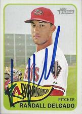 Randall Delgado Arizona Diamondbacks 2014 Topps Heritage Signed Card
