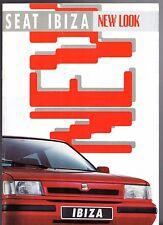 Seat Ibiza 1991-92 UK Market Sales Brochure SXi GLX CLX Special