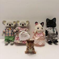 Lot of 5 Epoch Calico Critters Woodzeez Posable Figures Flocked Koala Kitten +
