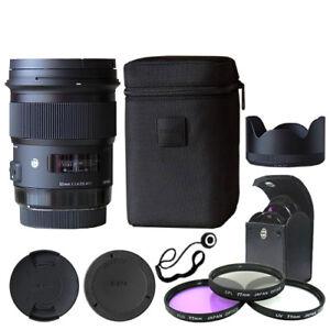 Sigma 50mm f/1.4 DG HSM Art Lens for Nikon Cameras + Deluxe Accessory Kit