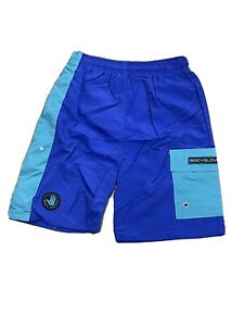 NOS Vintage 90s Body Glove Aqua Blue Color Block Boys Shorts Made USA 🇺🇸 MED