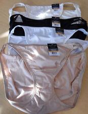 4 Vanity Fair Bikini Panty Nylon Illumination 7 L 18108 Black Beige White Ivory