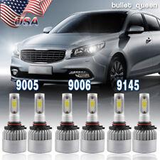 9006 9005 LED Headlight + H10/9145 Fog Lights for Chevy Silverado 1500 2003-2006