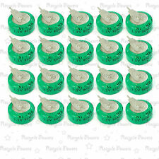 20 pieces Ni-MH 80mAh 1.2V button Rechargeable Battery backup power with tab