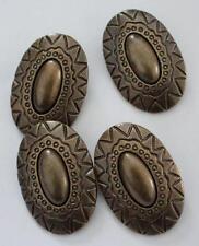 4 Gran Tono de bronce Inca Azteca Navajo Étnico Western impresión Shank Botones 40mm
