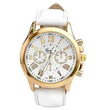 Geneva Luxury Women Casual Wrist Watch Leather Stainless Steel Quartz Watch Gift