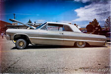 12x18 in. Poster 1964 Chevy Impala Lowrider, Vintage hot rod Garage Art Man Cave