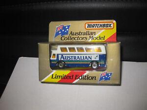 MATCHBOX AUSTRALIAN COLLECTORS MODEL MB65 AIRPORT COACH BUS AUSTRALIAN AIRLINES