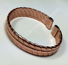 Non Magnetic Solid Copper HEAVY COPPER Bracelet Healing Arthritis Relief ( B70 )