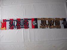 sciarpa RED BULL SALZBURG - JUVENTUS europa league 2011 football club scarf a1