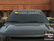 Die Cut Vinyl Batman Logo Decal Sticker Dark Knight UNIVERSAL WINDSHIELD BANNER