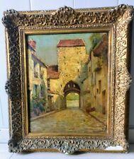 Eugène Guermont/Barbizon/Oil on Canvas/Moret On Loing / Rue De L'Drinker