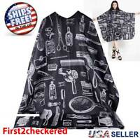 Hair Cutting Cape Large Salon Hairdressing Hairdresser Gown Barber Cloth Black
