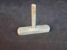 "TABLE LEG ADJUSTER 1/4"" Threads T shape 2"" long base 1 3/4"" tall Solid Steel"