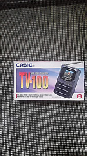 "Casio Model TV-100B Mini Handheld Portable Standard Television 1.6"" LCD Screen"