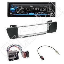 JVC KD-X341BT Radio + BMW X3 (E83) 2004-2010 Blende schwarz + ISO-Adapter SET
