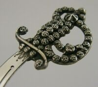 RARE ENGLISH SOLID STERLING SILVER BOOKMARK 1910 ANTIQUE NOVELTY