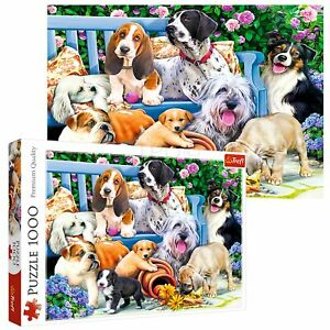 Trefl 1000 Piece Adult Large Cute Dogs In The Garden Play Fun Jigsaw Puzzle NEW