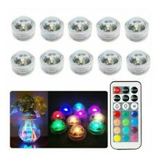 10X Waterproof Remote Control Colored LED Light Boundary Style EFX Accent New