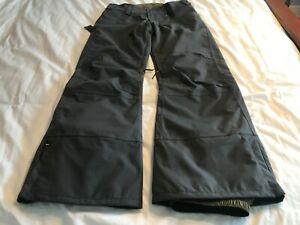 DAKINE Mens Large Insulated Ski Snowboard Pants Charcoal Cargo Style