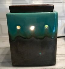 Scentsy Elemental Green Brown Full Size Warmer EUC Model 19341 Tested Works