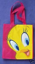 Tweety Bird - Shopping Tote Library Bag - Hot Pink