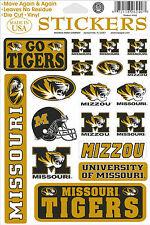 Missouri Tigers Vinyl Die-Cut Stickers