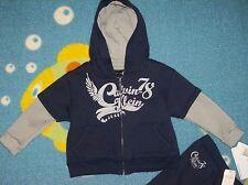 Calvin Klein Outfit Sweatshirt Hoodie Sweatsuit Baby Boys 2pc Set Sz 24 Mos NWT