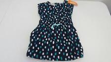 Gymboree Bright Ideas Navy Blue Dress w/Aqua Teal White Spots Size 4 5 6 NEW