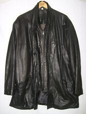 BUSH   Leder-Jacke  Stehkragen Reißverschluß und Knöpfe  schwarz  Gr. 26