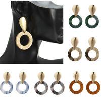 1 Pair Women Boho Geometric Drop Dangle Acrylic Resin Ear Stud Earrings Jewelry