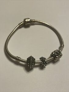 authentic pandora bracelet with pandora charms Present Flower Charms 925Sterling