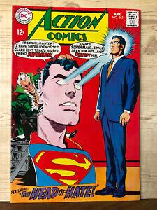 Action Comics #362 (Apr 1968, DC) 7.5 VF- Superman Supergirl MR. MXYZPTLK app