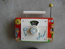 Vintage 1966 Fisher Price Music Box TV Radio 156 Works